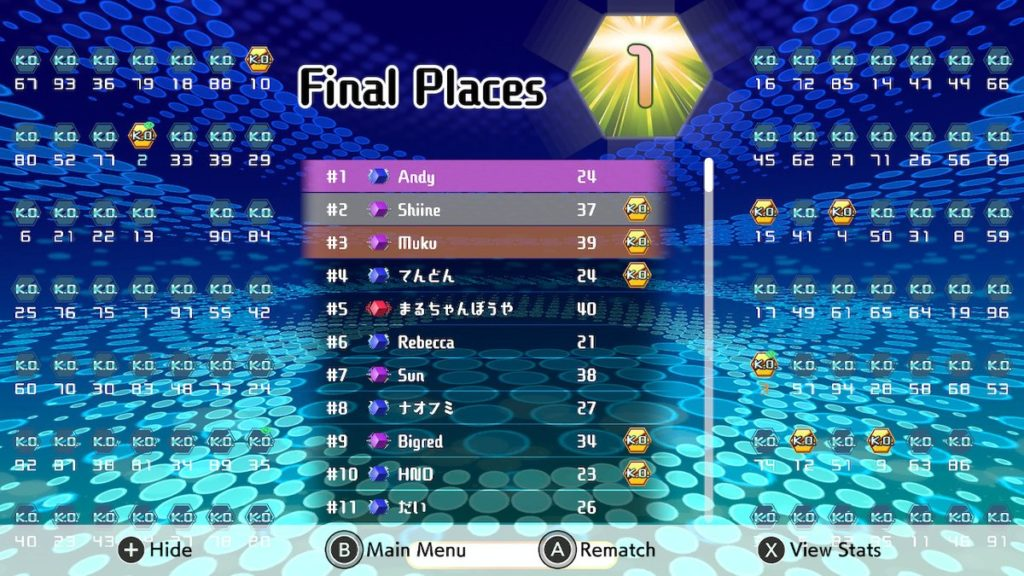 The author's first win in Tetris 99!
