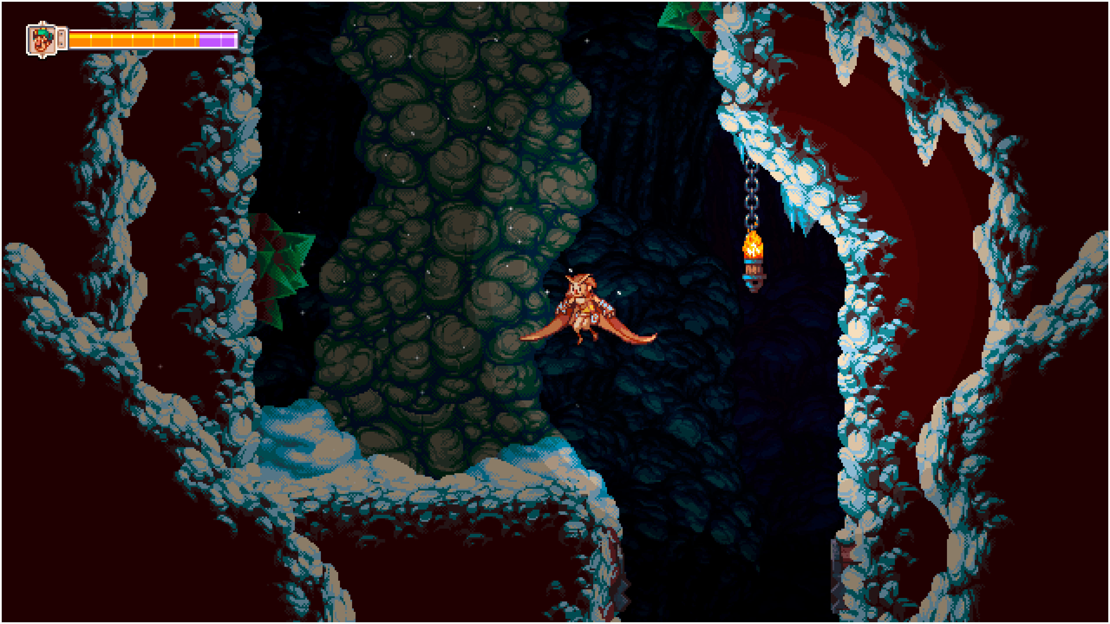 Otus tackles a dark and scary cave.